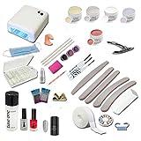 UV Gel Starterset Starlight inkl. UV Gerät, Nagelzubehör - Nailart - Einsteigerset - UV Gel Kit