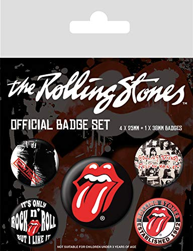 Rolling Stones - Classic, Abzeichen, 4 x 25 mm + 1 x 38 mm