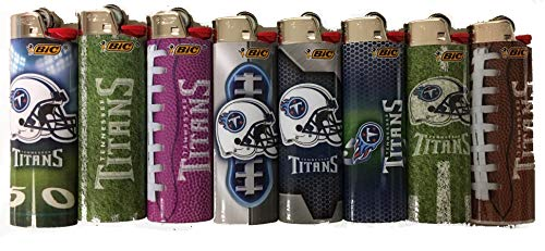 BIC Tennessee Titans NFL Series Officially Licensed 8pc Lighter Set