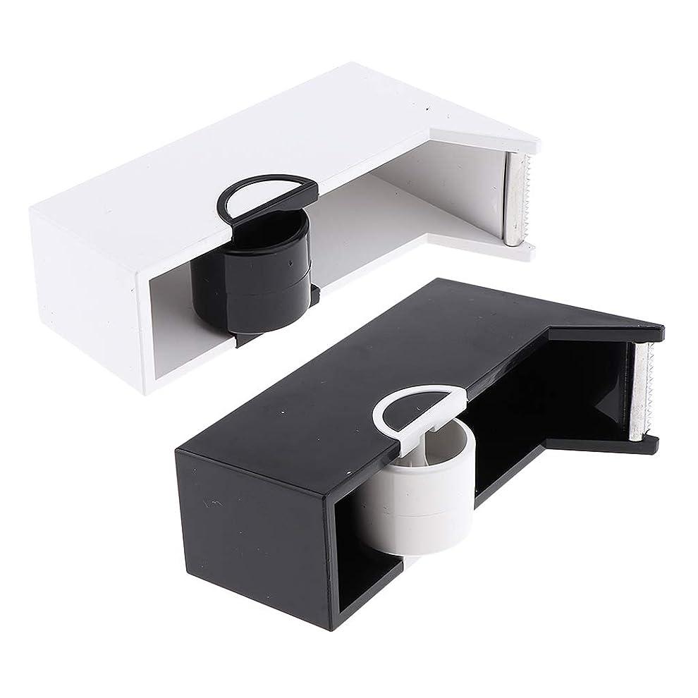 共同選択背景現在つけまつげ貼り付け用 テープツール テープカッター ディスペンサー プラスチック製 2点