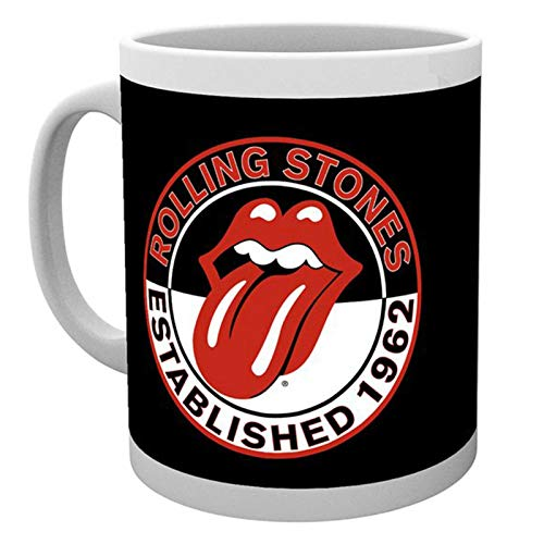 The Rolling Stones Kaffeetasse Established 1962 classic Tongue Band Logo
