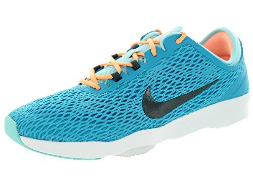 Nike Women's Zoom Fit Blue Lagoon/Dark Grey/Cp/White Training Shoe 9