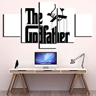 Yyjyxd HD Prints Canvas Pictures Modern Wall Art 5 Pieces Godfather Paintings Poster for Bedroom Home Decor Framework-4x6/8/10inch,Without Frame