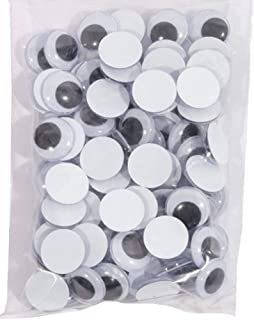 Glue On Goggly Eyes 2cm Pack Of 100 One Size