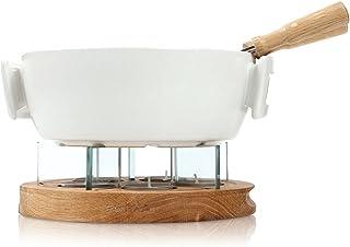 Boska Fondue Bougies Twinkle / Set à Fondue ignifuge / Bougies compris / Compatible au micro-ondes / Blanc / 1,6 L