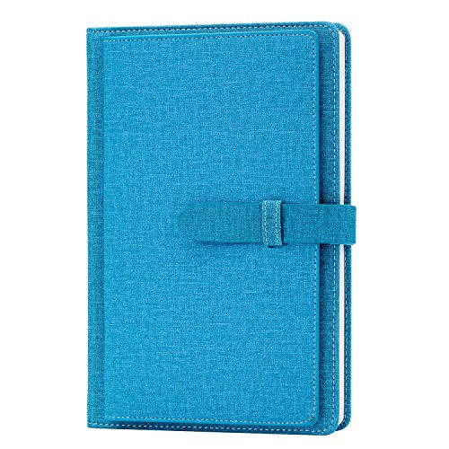 Cloth Cover Notebook, Re-sport A5 Premium Thick Paper Lined Notepad Hardcover Notebook Journal 100 Sheets/ 200 Pages with Inner Pocket, Page Dividers, Pen Holder, Cloth Buckle (8.5x5.9in)