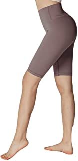 High Waist Sports Shorts Women Quick-Drying Stretch Fitness Yoga Pants Leggings (Size : Large)
