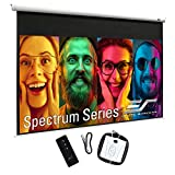 Elite Screens 90' Spectrum Electric Motorized Projector Screen with Multi Aspect Ratio Function Diag 16:10 & 87-inch Diag 16:9, Home Theater 8K/4K Ultra HD Ready Projection