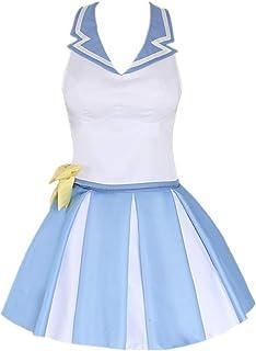 ULLAA Anime Re: La Vida en un Mundo Diferente de Cero Rem Cheerleading Uniforme Falda JK Trajes de Vestir