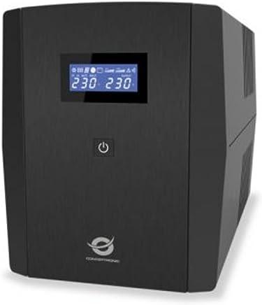 600 VA, 300 W, 220 V, 240 V, 50//60, Tipo F Conceptronic SAI para Oficina de 600 VA y 300 W UPS Fuente de alimentaci/ón Continua