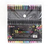 Pluma de color fina marca punto fino pluma dibujo poroso Fineliner pluma diario escribir notas calendario agenda para colorear arte escuela suministros de oficina, 12-36 colores,18colors