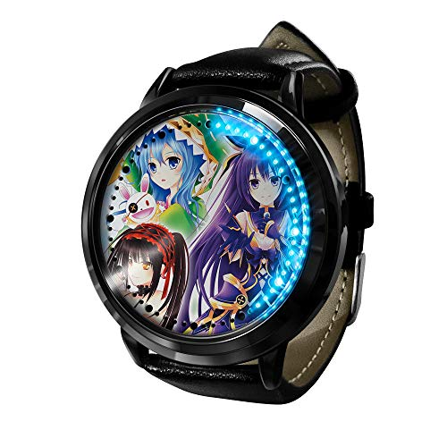 Anime Dating Battle Impermeable LED Pantalla táctil Luminoso Reloj Neutral Digital Reloj Cosplay Regalo Nuevo Reloj Regalo para niños-E