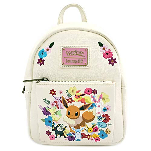 in budget affordable Loungefly Pokemon Eevee Evolutions Flower Mini Backpack 9x8x4inch