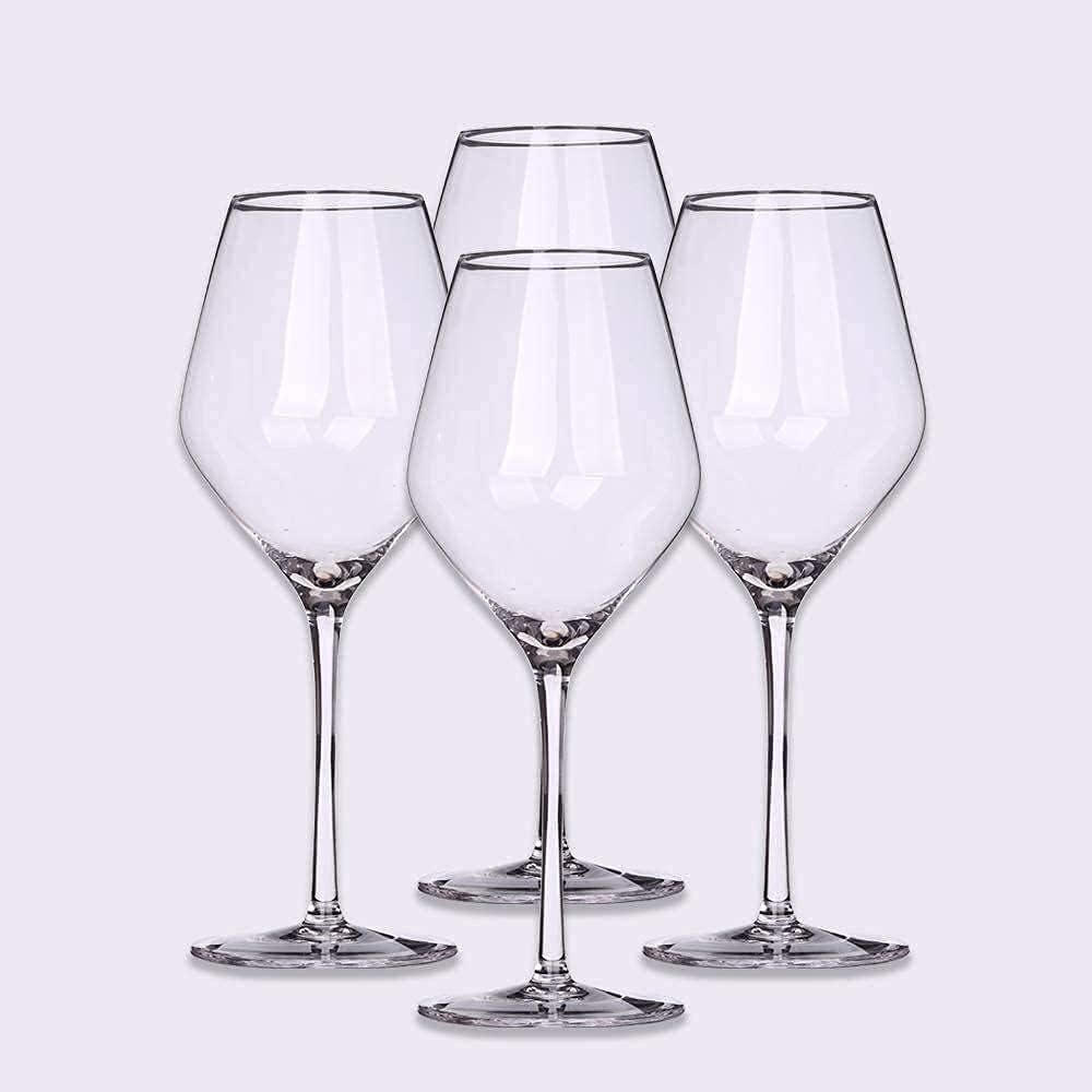 FYHH-JZHY Copa De Vino 500 Ml De Cristal Soplado A Mano Sin Plomo Cristal Transparente Adecuado para WS, Aniversarios, Navidad Que Vale La Pena Tener, 8