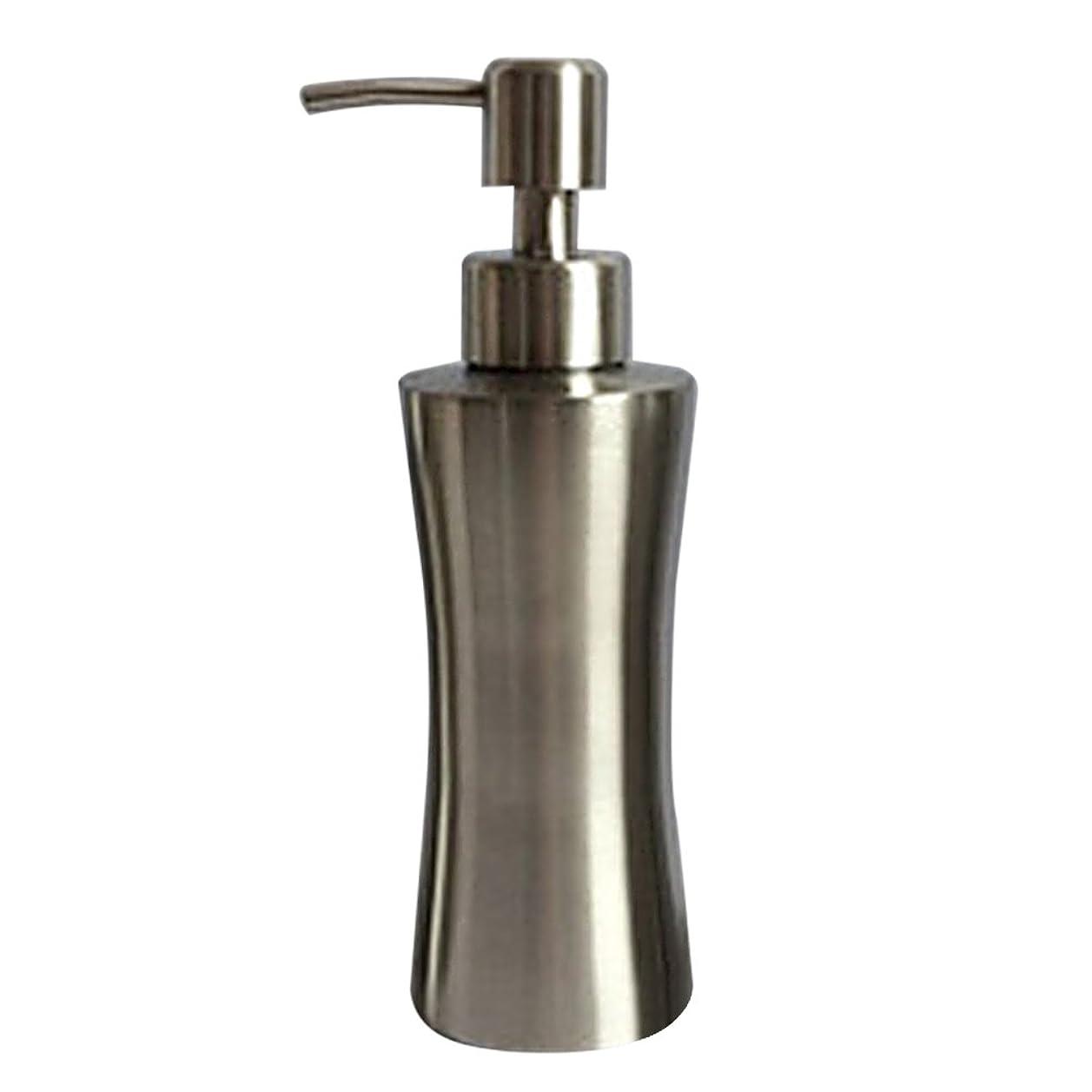 楽観否認する独裁ディスペンサー ステンレス ボトル 容器 ソープ 石鹸 シャンプー 手洗いボトル 耐久性 錆びない 220ml/250ml/400ml (B:250ml)