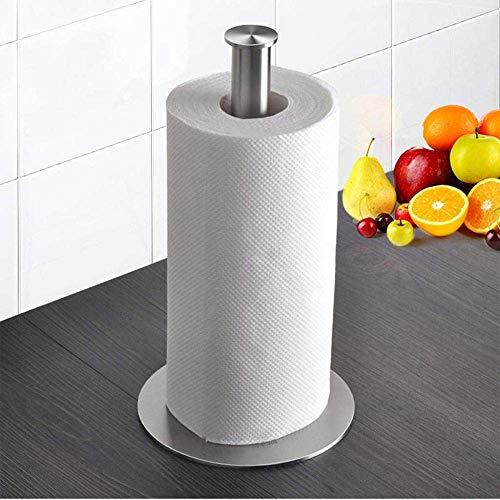 YAJIWU Portarrollos de papel de baño independiente, soporte de papel de cocina de acero inoxidable, soporte de papel, artículos para el hogar, 15 x 28 cm para el hogar