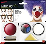 Halloween! Smiffys Smiffys Make Up FX, Clown Kit, enthält Gesichtsfarbe, Nase, Fettstifte und Schwamm -