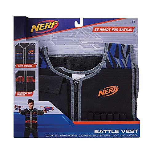 Nerf Elite Ultimate Battle Weste 11543 praktische, verstellbare Weste aus hochwertigem Nylonmaterial im stylischen Nerf Elite Design, mit Aufbewahrungsplatz für Darts, Magzinen uvm.