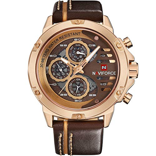 Waterproof Leather Sport Men Wrist Watch