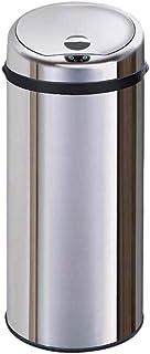 Bacs à Ordures Extérieurs Grande Poubelle électronique Automatique d'induction de Cuisine d'hôtel Ronde Ronde d'acier Inox...