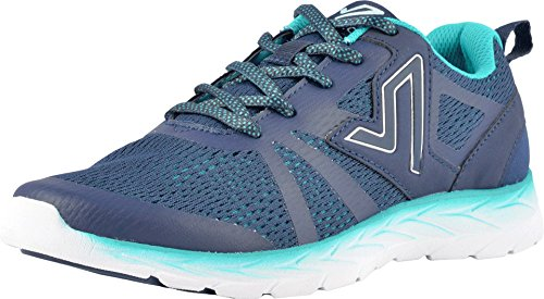 Vionic Women's Brisk Miles Lace-up Active Sneaker - Ladies Walking Sneakers with Concealed Orthotic Arch Support Blue Teal 8 Medium US