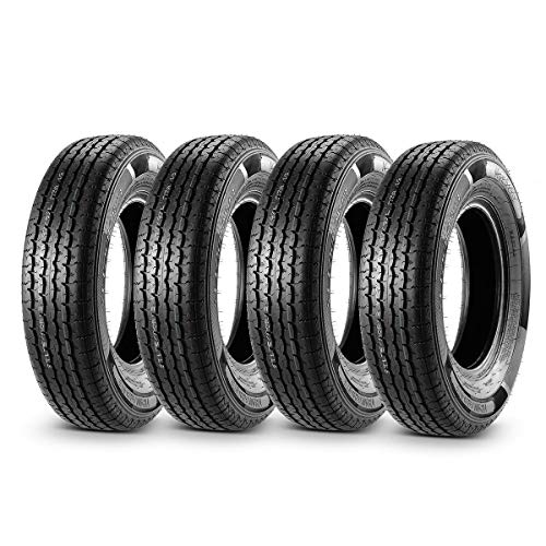MaxAuto Trailer Tires 175/80R13 97/93L 8 Ply Load Range D Radial Heavy Duty, Set of 4