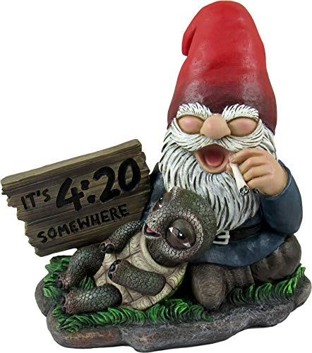 World of Wonders - Gnaughty Gnomes Series Collectible Indoor Outdoor Gnome on Statue Home Decor Garden Patio Accent, 6-inch… (Four-Twenty Friends)