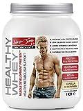 Adrian James Nutrition - Healthy Whey Protein Powder for Men & Women, Premium Grade Whey Protein Shake with BCAAs, Glutamine, Magnesium, Zinc, Vitamin D & B6, Vanilla Flavour, 33 Servings, 1 kg