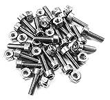 TwistedSpoke Flat Pedal Pin Kit, 20Pins (Stainless-Steel)