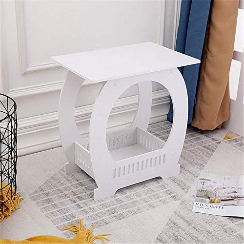 Yhjkvl Mesas de café mini mesa auxiliar mesa de café estantería lateral sofá mesita de noche con estante de almacenamiento mesas de anidación