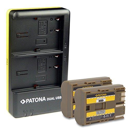 PATONA Cargador Doble + 2X Bateria BP-511 Compatible con Canon BP-508 BP-512 PowerShot G1 G2 G3 G5 Pro1 MV600 MV700