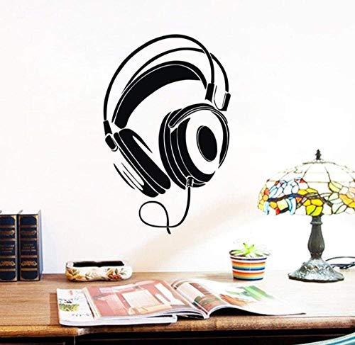 Auriculares Con Cable, Pegatinas De Pared, Música, Dj, Decoración Del Hogar, Calcomanías...