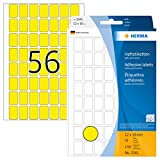 Herma 2341 - Etiquetas multiuso, 12x18 mm, papel mate, 1792 unidades, color amarillo