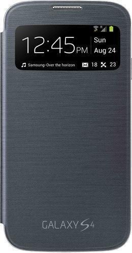 Samsung S-View - Funda para móvil Galaxy S4 (Pantalla frontal, teclas laterales para activar la pantalla), color negro