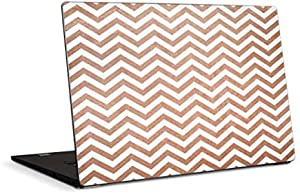 Skinit Decal Laptop Skin Compatible with Dell XPS 15in (2017) - Officially Licensed Originally Designed Rose Gold Chevron Design