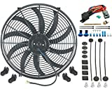 """American Volt 16"""" Inch Electric Cooling Fan 12 Volt Push-in Radiator Fin Probe"""