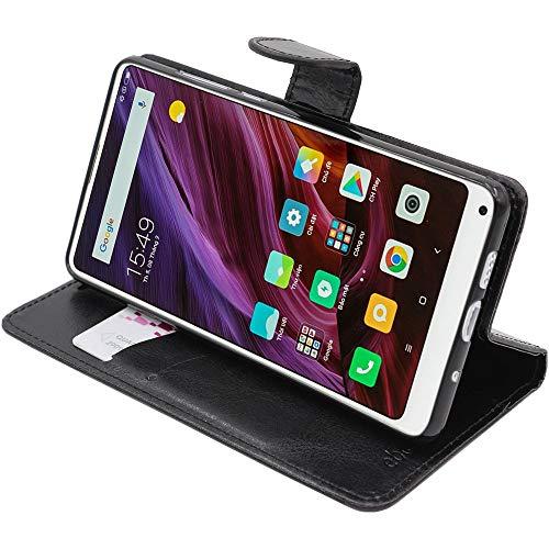 ebestStar - Funda Compatible con Xiaomi Mi Mix 2S Carcasa Cartera Cuero PU, Funda Libro Billetera Ranuras Tarjeta, Función Soporte, Negro [Aparato: 150.9 x 74.9 x 8.1mm, 5.99'']