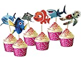 48pcs Cake Toppers for Finding Nemo, Kids...