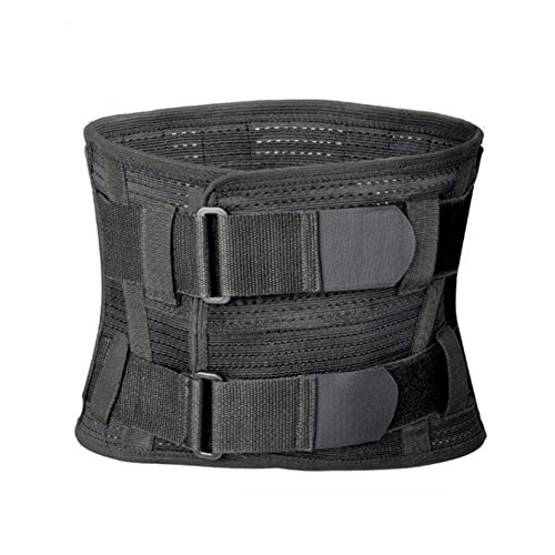 Tcare Lumbar Lower Back Brace and Support Belt - for Men & Women Relieve Lower Back Pain with Sciatica, Scoliosis, Herniated Disc or Degenerative Disc Disease Back Pain Relief (L)
