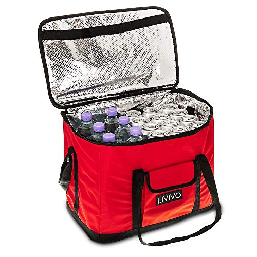 LIVIVO ® Extra Large Insulated Cool Bag, Collapsible
