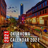 Oklahoma Calendar 2021: 12 Month Mini Calendar from Jan 2021 to Dec 2021, Cute Gift Idea | Pictures in Every Month