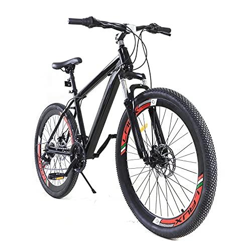 26 pollici, 21 marce, cambio a manopola girevole in lega di acciaio al carbonio, unisex, con freno a contropedale, mountain bike, bici da corsa, da uomo, per adulti