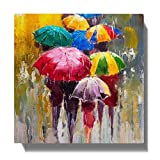 100Yellow® Abstact Painting Framed Canvas Painting for Living Room (Wooden, 10 X 10 Inch)