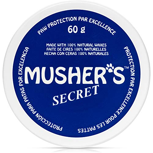 Musher's Secret Dog Paw Wax (2.1 Oz): All Season Pet Paw Protection Against Heat, Sand, Snow. with Beeswax, Great for Dogs, Cats, Horses, and Chickens