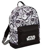Star Wars Grand Sac à Dos Dark Vador Storm Trooper pour l'école, l'université, pour Ordinateur Portable, Noir/Blanc (Noir) - MNCK13122