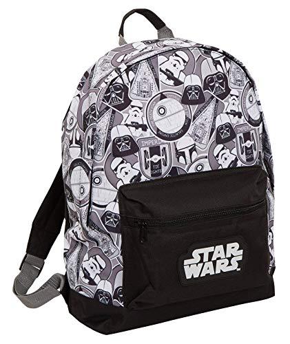 Star Wars Rucksack Darth Vader Storm Trooper Schule College Laptop Tasche Rucksack, schwarz / weiß (Schwarz) - MNCK13122