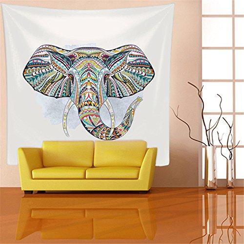 AdoraTapestry Tapiz de Pared Tapestry Wall Hanging Toalla de Playa Beach Towel Yoga Mat Pareos Playa Toalla Mandala Elefante 150x130cm
