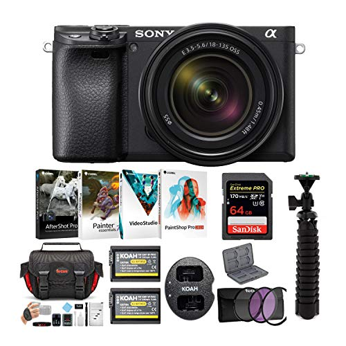 Sony a6400 Mirrorless Digital Camera Bundles (w/ 18-135mm)