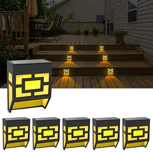 Solar Lights Outdoor Decorative Waterproof LED Fence Lights Solar Deck Powered Step Lights for product image