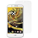 atFolix Panzerfolie kompatibel mit Acer Liquid Zest Plus Schutzfolie, entspiegelnde & stoßdämpfende FX Folie (3X)